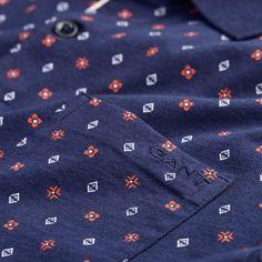 GANT: Blue Mini Foulard Polo Men's | GANT USA Store