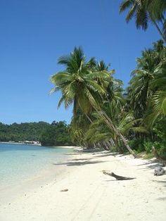 Weißer Strand auf Siargao Island, Mindanao
