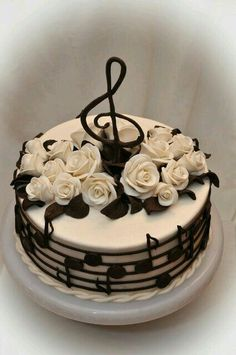 Cake Decorating - How To Apply Edible Cake Art Music Themed Cakes, Music Cakes, Fondant Cakes, Cupcake Cakes, Baking Cupcakes, Shoe Cakes, Cake Baking, Baking Desserts, Cake Cookies