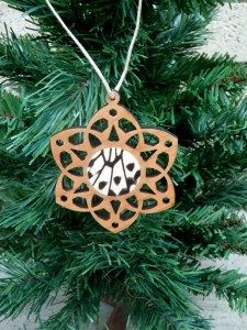 Butterfly wing Christmas tree ornament