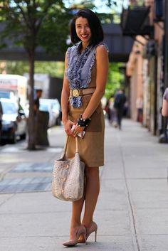 Lily Kwong - Street style 2013   #streetstyle #FashionWeek
