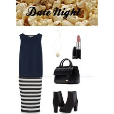 Date night outfit! by alittlestudentsharing on Polyvore featuring Gérard Darel, Ashley Stewart, Zara, House of Harlow 1960 and MAC Cosmetics