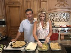 "Cake Boss Buddy Valastro may be known for his towering sweet confections, but on nights at home with his wife, Lisa, it's all about family-style Italian comfort food. ""Honestly, I don& Cake Boss Buddy, Home Recipes, Veggie Recipes, Cooking Recipes, Yummy Recipes, Cooking Tips, Recipies, Yummy Food, Buddy Valastro Wife"