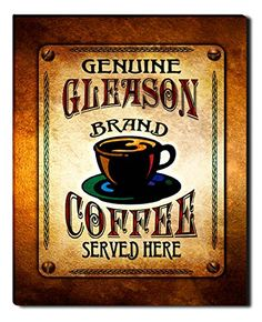 Gleason Brand Coffee Gallery Wrapped Canvas Print ZuWEE…