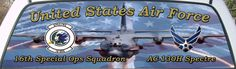 United States Air Force 16th Special Operations Squadron Rear Window Graphic Mural.