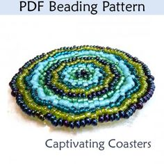 Captivating Beaded Coaster PDF Beading Pattern