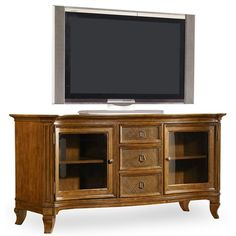 Hooker Furniture Windward Entertainment Console with Glass Doors
