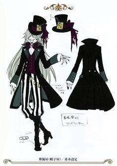 Undertaker as the Mad Hatter in Ciel in Wonderland