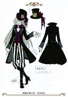 Undertaker as the Mad Hatter in Ciel in Wonderland