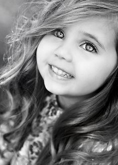 Look at this little girls beautiful little face & smile - just love this