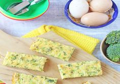 Broccolli And Cheese Frittata Fingers