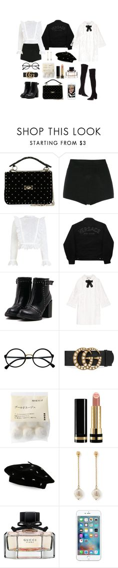 """""""make 'em whistle like a missile, bomb, bomb"""" by areasf ❤ liked on Polyvore featuring Valentino, Reinaldo Lourenço, Zimmermann, Loeffler Randall, Versace Jeans Couture, Gucci, Retrò, Steve Madden and Lele Sadoughi"""