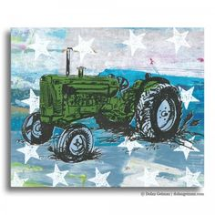 Tractor Panel Painting by Dolan Geiman