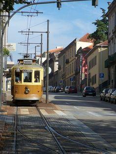 Carro Elétrico do Porto © Viaje Comigo Porto City, Old Steam Train, Porto Portugal, Bonde, Douro, Light Rail, Heron, Locomotive, Street View