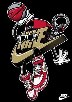 Rusc Young Athletes on Behance Jordan Logo Wallpaper, Nike Wallpaper Iphone, Hype Wallpaper, Graffiti Wallpaper, Cartoon Wallpaper, Cool Nike Wallpapers, Michael Jordan Art, Image Swag, Sneakers Wallpaper