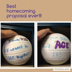 The way every volleyball player wants to get asked to homecoming!!!