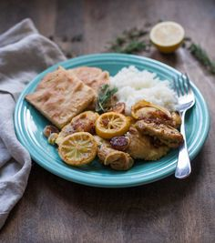 Fast and flavorful Lebanese lemon chicken with shallots, fresh herbs,and a touch of turmeric--a comforting paleo dinner for fall or winter. Easy Paleo Dinner Recipes, Best Paleo Recipes, Whole 30 Recipes, Favorite Recipes, Baked Bbq Ribs, Lemon Herb Chicken, Mind Diet, Lebanese Recipes, Mediterranean Diet Recipes