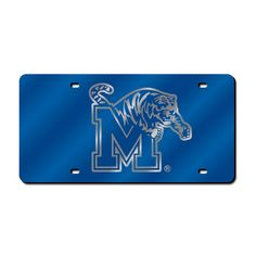 Memphis Tigers Laser Cut License Plate Cover