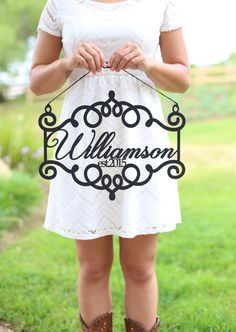 Personalized Black Wood Sign - $34.99. https://www.bellechic.com/deals/eb8b9950428d/personalized-black-wood-sign