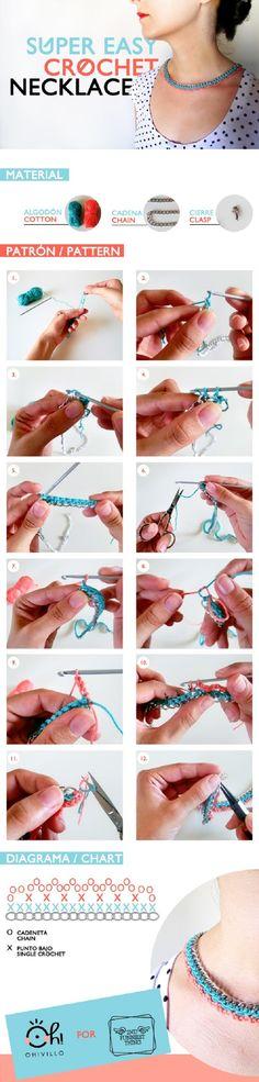 DIY colaborador: Super Easy Crochet Necklace