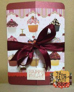 Happy Birthday Card Cupcake Card