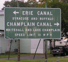 Erie Canal signage. Lots of cool stuff to see along our bicycle tour of the Northeastern US.