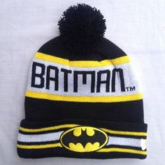 50e0e9f27a0 New Fashion Winter Warm Cap Women Embroidery Batman Beanies Hat Autumn  Unisex Cotton Hip-hop Wool Knitted Hat Caps For Men