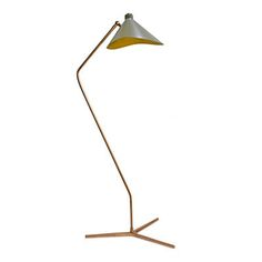 Dino Floor Lamp with Grey Shade