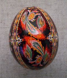 Pysanka Pysanky from Ukraine Chicken Easter Egg by Oleh. This is incredible, so much depth and detail!