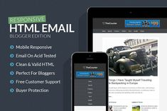 Blogger Responsive Email Template by Creativenauts on @creativemarket