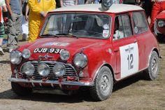 DJB 93 B Works Mini Cooper S ..1965 RAC rally winner , driven by Aaltonen / Ambrose .. Sister car DJB 92 B finished 6th o/a driven by Lusenius / wood .