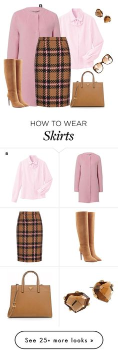 """outfit 2958"" by natalyag on Polyvore featuring Basler, Miu Miu, Ralph Lauren Collection, Prada, Robert Lee Morris and Gucci"