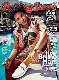 Bruno Mars on the November 17, 2016 cover.