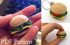 Mini Hamburger Amigurumi Pattern by ObligationalOctopus on Etsy