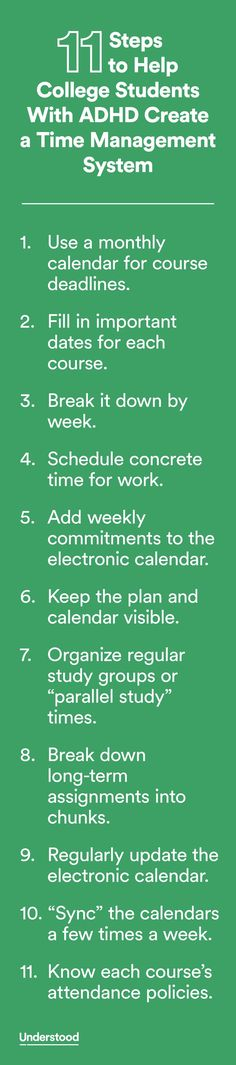 11 Steps To Help College Students Who Have ADHD With Time Management