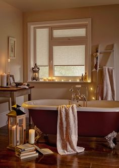 27 hygge-inspired items for your home - Hygge decor: Soft natural light through blinds can make a room feel ultra cosy and makes the most of - Hygge Home, Casa Hygge, Cosy Bathroom, Modern Bathroom, Bathroom Blinds, Light Bathroom, Bathroom Ideas, Bathroom Bath, Bath Tub