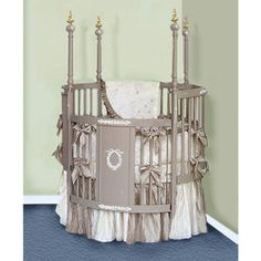 We offer All Things Creative Victorian Dreams Round Crib Bedding Set for  your baby at great prices.