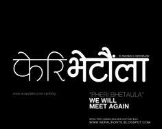 Light Devanagari Nepali5 Ananda Ashlesha   Nepali typeface