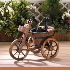 Found it at Wayfair - Wood and Iron Tricycle Water Fountain