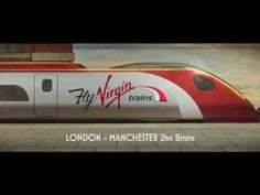 'Fly Virgin Trains  TV Ad from Virgin Trains.   Love everything about this ad, from the production value to the detail in the fake newspaper headlines, to the redhead... and the Dean Martin 'Volare' soundtrack - very classy!