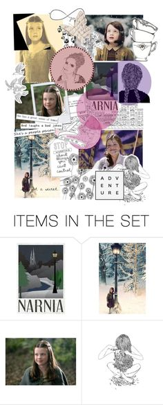 """Lucy Pevensie of Narnia"" by beck-bows-and-ribbons ❤ liked on Polyvore featuring art"