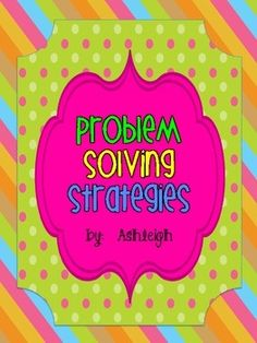 Problem Solving Strategies Worksheets ($)