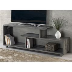 Carrasco Solid Wood TV Stand for TVs up to 60 inches - entertainment center ideas living room Design Stand, Tv Stand Designs, Simple Tv Stand, Cool Tv Stands, Living Room Shelves, Living Room Tv, Classic Furniture, Home Furniture, Bedroom Furniture