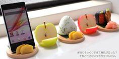 Food sample smart phone stands