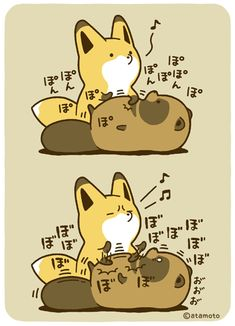 Twitterで大人気 タヌキとキツネのゆるい日常を描いたマンガ - ライブドアニュース