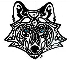 celtic wolf by neodragonarts.deviantart.com on @deviantART