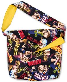 Classic Horror Films Bag – Free PDF Pattern A treat bag to sew, designed by Ramona Rose for Robert Kaufman.