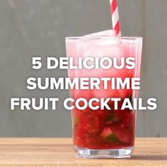 Get Your Drank On This Summer With These 5 Delicious Fruity Cocktails Tasty Fruity Cocktails, Fruit Drinks, Summer Cocktails, Refreshing Drinks, Cocktail Drinks, Healthy Drinks, Detox Drinks, Virgin Cocktails, Fruit Smoothies