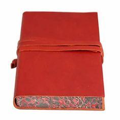 Chianti Medium Red Leather Journal - £39.95