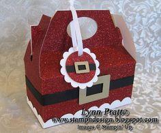 Santa Two Cupcake box tutorial
